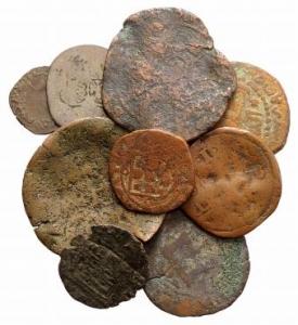 D/ lotto di 9 monete medioevali da classificare LOT SOLD AS IS, NO RETURNS