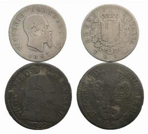 D/ lotto di 2 monete dei Savoia da classificare LOT SOLD AS IS, NO RETURNS