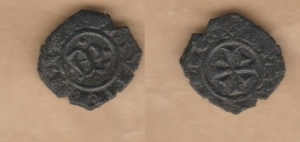 D/ BRINDISI, Manfredi (1258-1266) Denaro 0,90 gr. Spahr 195 BB