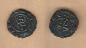D/ BRINDISI, Manfredi (1258-1266) Denaro 0,82 gr. Spahr 195 var. BB