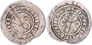 D/ GORIZIA, Alberto II. (1274-1304) AR Denaro 0.86 gr. Paolucci 70 MEC XII, 891 molto rara BB