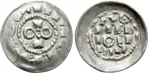 D/ MILANO, Ottone II e III (973-1003) AR Denaro scodellato 1.1 gr. MEC XII, 21 SPL