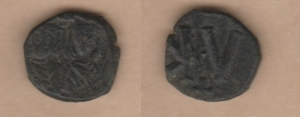 D/ SIRACUSA, Teofilo (831-835) AE Follis. Spahr 431 BB