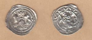 D/ AQUILEIA, Ulrico di Treffen (1161-1181) AR Denaro 1.17 gr. Paolucci 5 rara BB+