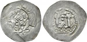 D/ AQUILEIA, Ulrico di Treffen (1161-1181) AR Denaro 1.3 gr. Paolucci 6 rara qSPL/SPL