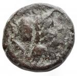 obverse: Mondo Greco - Apulia. Teate. 217 a.C.Oncia. AE. D/ Testa di Athena a destra. R/ TIATI. Civetta a destra. In esergo: un globetto. SNG ANS 752. Peso gr. 3,56.BB+