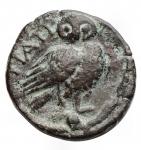 reverse: Mondo Greco - Apulia. Teate. 217 a.C.Oncia. AE. D/ Testa di Athena a destra. R/ TIATI. Civetta a destra. In esergo: un globetto. SNG ANS 752. Peso gr. 3,56.BB+