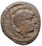 obverse: Mondo Greco -Apulia, Teate.AE. 19,3 x 21,1 mm. Ca 275-225 a.C.D/ Testa di Atena a destra.R/ Civetta ad ali chiuse a destra.RifHN (Italy) 701.g 4,38. MB-qBB