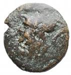 obverse: Mondo Greco -Apulia Venusia.210-200 a.C.Sestante. AE. D/ Testa elmata di Atena a sn R/ Civetta verso sinistra, VE in monogramma. SNG ANS 766. Peso 4,5 gr. Diametro 20,7 mm. MB-qBB.Patina verdeR.