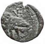 reverse: Mondo Greco -Apulia Venusia.210-200 a.C.Sestante. AE. D/ Testa elmata di Atena a sn R/ Civetta verso sinistra, VE in monogramma. SNG ANS 766. Peso 4,5 gr. Diametro 20,7 mm. MB-qBB.Patina verdeR.