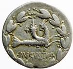 reverse: Impero. Romano. Augusto (27 a.C. - 14 d.C.) Cistoforo, Asia: Efeso, 25-20 a.C. AR. D\ IMP - CAE - SAR, testa nuda a destra R\. AVGV - STVS, capricorno stante verso destra porta una cornucopia sul dorso; il tutto in corona di alloro. RIC 480; RPC 2213. Peso 11,70 gr. Diametro 24,00 mm. Ottimo BB.