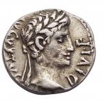 obverse: Impero Romano -Augusto. 27 a.C. - 14 d.C.Denario. Ag. 8-6 a.C.D/ AVGVSTVS DIVI F. Testa laureata a destra.R/ C. CAES / AVGVS. F (in esergo). Caio Cesare galoppa a destra. Dietro, aquila legionaria tra due stendardi.RIC 199.gr 3,68. mm18,6. Imperfezioni.BB+. R.