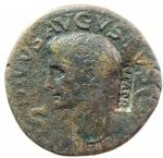 obverse: Impero Romano. Augusto 27 a.C.- 14 d.C. Dupondio. Ae. D/ Contromarca NCAPR Testa di Augusto con corona radiata verso sinistra DIVVS AVGVSTVS SC. R/ Augusto seduto verso sinistra con patera CONSENSV SENAT ET EQ ORDIN P Q R. RIC.56 ( Tiberio). Peso 14,90gr. Diametro 27,00 mm. qBB.°°