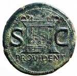 reverse: Impero Romano. Augusto. 27 a.C. - 14 d.C. Asse. D/ Testa di Augusto verso sinistra DIVVS AVGVSTVS PATER. R/ PROVIDENT Altare tra SC. RIC.81 (Tiberio). Peso 10,70 gr. Diametro 26,96 mm. qSPL.Patina Verde Scura,Ritratto di stile magistrale