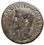 obverse: Impero Romano - Augusto.27 a.C. - 14 d.C.Asse. D/ IMPCAESAR DIVI F AVGVSTVS IMP Testa di Augusto verso sinistra. R/ SCTRIBVNIC POTEST XXXIIII PONTIF MAXIM. RIC.471.Peso 10,1 gr. Diametro 26,8 mm. qBB.R.