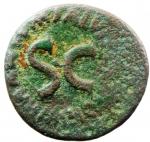 reverse: Impero Romano. Augusto. 43 a.C.-17 d.C. Asse. Ae. D/ CAESAR AVGVST PONT MAX TRIBVNIC Testa di Augusto verso sinistra. R/ SC M SALVIVS OTHO III VIR A A A F F. RIC.432. Peso 8,92 gr. Diametro 26,45 mm. qBB. R. °°