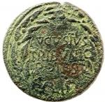 obverse: Impero Romano. Augusto. 27 a.C.-17 d.C. Asse. Ae. D/ AVGVSTVS TRIBVNIC POTEST Testa di Augusto verso destra. R/ L SVRDINVS III VIR A A A F F. RIC.386. Peso 12,25 gr. Diametro 27,00 mm. qBB. Patina verde. Incrostazioni. R.°°