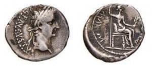 obverse: Impero Romano.Tiberio 14-37 d.C. Denario .D\Testa di Tiberio a destra .R\ Livia seduta a destra .Peso 3,87 gr. RIC 3 pag. 103 RIC 3.BB