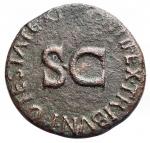 reverse: Impero Romano -Tiberio. 14-37 d.C.Asse, emesso da Augusto.Ae.10-11 d.C.D/ TI CAESAR AVGVST F IMPERAT V. Testa nuda di Tiberio a destra.R/ PONTIFEX TRIBVN POTESTATE XII intorno a grande SC.RIC (Aug.) 469.Pesogr. 9,83.Diametromm. 27,8.BB.
