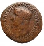 D/ Impero Romano -Tiberio (14-37 d.C.).Asse.D/ TI CAESAR DIVI AVG F AVGVST IMP VIII. Testa nuda a sinistra.R/ PONTIF MAXIM TRIBVN POTEST XXIIII intorno a grande SC.RIC 44.g 10,03. mm 29,7.AE.qBB