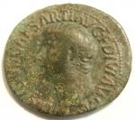 obverse: Impero Romano. Druso, figlio di Tiberio, deceduto nel 23 d.C. Asse. Ae. D/ DRVSVS CAESAR TI AVG F DIVI AVG N. Testa nuda a sinistra. R/ PONTIF TRIBVN POTEST ITER intorno a grande SC. RIC (Tib.) 45. Peso gr. 9,95. Diametro mm. 30. BB+. Patina verde. Difetto di conio al rovescio.