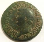 obverse: Impero Romano. Druso, figlio di Tiberio, deceduto nel 23 d.C. Asse. Ae. D/ DRVSVS CAESAR TI AVG F DIVI AVG N. Testa nuda a sinistra. R/ PONTIF TRIBVN POTEST ITER intorno a grande SC. RIC (Tib.) 45. Peso gr. 9,90. Diametro mm. 29. BB. Patina verde.