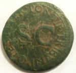 reverse: Impero Romano. Druso, figlio di Tiberio, deceduto nel 23 d.C. Asse. Ae. D/ DRVSVS CAESAR TI AVG F DIVI AVG N. Testa nuda a sinistra. R/ PONTIF TRIBVN POTEST ITER intorno a grande SC. RIC (Tib.) 45. Peso gr. 9,90. Diametro mm. 29. BB. Patina verde.