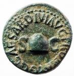 obverse: Impero Romano. Caligola. 37-41 d.C. Quadrante. AE. D/ SC. Pileo. Legenda nel giro. R/ RCC. Legenda nel giro. Cfr. RIC 45. Peso gr.3,55. qSPL.w