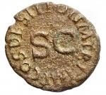 D/ Impero Romano -Claudio (41-54).Quadrante.D/ Modio.R/ PON M TR P IMP P P COS II attorno a grande SC.RIC 84.AE.BB