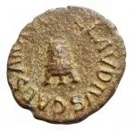 R/ Impero Romano -Claudio (41-54).Quadrante.D/ Modio.R/ PON M TR P IMP P P COS II attorno a grande SC.RIC 84.AE.BB