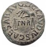 obverse: Impero Romano - Claudio. 41-54 d.C.Quadrante. D/ TI CLAVDIVS CAESAR AVG Mano che tiene una bilancia, tra i piatti PNR. R/ PON M R P IMP PP COS II intorno ad SC. Peso 2,71 g. Ric. 91.BB.
