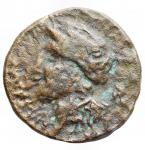 obverse: Mondo Greco - Bruttium. Rhegium. Ae. ca 415-387 a.C.d/ Apollo a sn r/ Testa di leone frontale.HN Italy 2534. gr 6,19. mm 21,57.MB-qBB. R