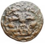 reverse: Mondo Greco - Bruttium. Rhegium. Ae. ca 415-387 a.C.d/ Apollo a sn r/ Testa di leone frontale.HN Italy 2534. gr 6,19. mm 21,57.MB-qBB. R