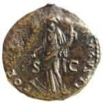 reverse: Impero Romano.Domiziano .Asse.Da classificare.qMB.ç