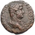 D/ Impero Romano - Adriano. 117-138 d.C.Asse. AE. D/ HADRIANVS AVG COS III PP. Busto a testa nuda, drappeggiato e corazzato a destra. R/ AEGYPTOS SC. L' Egitto semisdraiato a sinistra, con un sistro si appoggia con il gomito su di un cesto, davanti un ibis. RIC 839. Peso 11,17 gr. Diametro 26,6 mm. qBB.RR.