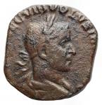 D/ Impero Romano - Volusiano 251-253. Sesterzio Ae. d/ Busto a ds r/ Concordia stante volta a sn con patera e doppia cornucopia. gr 14,51. mm 24,3 x 25,8. RIC 249a. BB