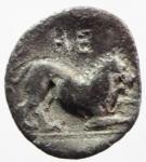reverse: Mondo Greco. Lucania. Heraclea. 370-281 a.C. Diobolo. AG. D/ Testa di Eracle a destra. R/ HE retrogrado. Leone a destra. SNG ANS 208. Peso 0,94 gr. Diametro 10,90 mm.BB. R.