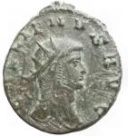 D/ Impero Romano - Gallieno (253-268).Antoniniano, ca. 267-268.D/ GALLIENVS AVG. Testa radiata a destra.R/ APOLLINI CONS AVG. Centauro a destra tende l'arco. In esergo: Z.RIC 163. C. 72.AE.g 3,45.mm 18,7 x 20,9.BB++. Patina verde