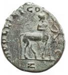 R/ Impero Romano - Gallieno (253-268).Antoniniano, ca. 267-268.D/ GALLIENVS AVG. Testa radiata a destra.R/ APOLLINI CONS AVG. Centauro a destra tende l'arco. In esergo: Z.RIC 163. C. 72.AE.g 3,45.mm 18,7 x 20,9.BB++. Patina verde