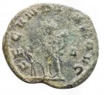 R/ Impero Romano - Salonina. 260-268 d.C.Antoniniano.AE.D/ SALONINA AVG, Busto verso destra. R/ FECVNDITAS AVG, Fecunditas con un bambino e cornucopia. RSC 41. Peso 2,63 gr. Diametro 20,3 mm.BB+. Patina verde