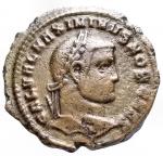 D/ Impero Romano - Massimino II Daia Cesare (305-308).Follis. Heraclea, 310 d.C.D/ GAL VAL MAXIMINVS NOB CAES. Testa laureata a destra.R/ GENIO CAESARIS. Genio stante di fronte, con il capo volto a sinistra, tiene patera e cornucopia. In esergo: ° H T B ?.AE.g 8,07.mm 27,1.NC.BB.