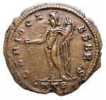 R/ Impero Romano - Massimino II Daia Cesare (305-308).Follis. Heraclea, 310 d.C.D/ GAL VAL MAXIMINVS NOB CAES. Testa laureata a destra.R/ GENIO CAESARIS. Genio stante di fronte, con il capo volto a sinistra, tiene patera e cornucopia. In esergo: ° H T B ?.AE.g 8,07.mm 27,1.NC.BB.