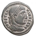 D/ Impero Romano - Costantino I 311-337. Follis. Heraclea. d/ Busto a ds con testa laureata r/ VOT/°/XX/* In sx SMHA. gr 2,24. mm 18,6 x 20,3. SPL. Patina verde su argentatura