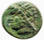obverse: Mondo Greco. Lucania. Velia. 350-300 a.C. Ae. D/ Testa di Zeus a sinistra. R/ Civetta ad ali aperte. SNG COP.1604. Peso gr 1,90. Diametro mm 12,70. BB+. Patina verde. RR.
