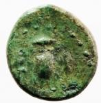reverse: Mondo Greco. Lucania. Velia. 350-300 a.C. Ae. D/ Testa di Zeus a sinistra. R/ Civetta ad ali aperte. SNG COP.1604. Peso gr 1,90. Diametro mm 12,70. BB+. Patina verde. RR.