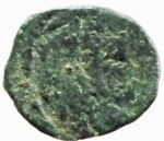 R/ Barbari. Vandali. Guntamundo. 484-496 d.C. Nummo. D/ Busto di Guntamundo verso destra. R/ Lettera D in ghirlanda. Arslan 2. Peso 0,55 gr. Diametro 9,82 mm. BB\MB. RR.