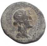 obverse: Mondo Greco - Sicilia. Menainon. Dopo il 210 a.C.Tetras. AE. D/ Busto velato di Demetra verso destra. R/ Due torcie incrociate. Peso 3,31 gr. Diametro 17,9 mm. Sear 1129.qBB.