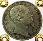 D/ Casa Savoia .Regno di Sardegna. Vittorio Emanuele II (1849-1861). 5 lire 1859 Genova. Pag. 387. R. AG. Periziata Moruzzi qBB.s.v