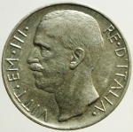 R/ Casa Savoia. Vittorio Emanuele III. 10 lire 1927 Biga. Due rosette. SPL