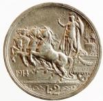R/ Casa Savoia. Vittorio Emanuele III. 1900-1943. 2 Lire 1914 Quadriga Briosa. Pagani 737. Peso 10,02. BB+. Colpo al bordo.